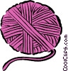 Vector Clip Art graphic  of a ball of yarn
