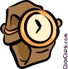 Vector Clip Art graphic  of a wrist watch