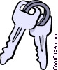 car keys Vector Clipart image