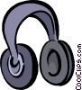 head phones Vector Clip Art image