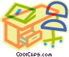 Vector Clip Art graphic  of a office desk