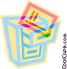 Vector Clipart illustration  of a filing cabinet