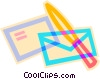 mail and letter opener Vector Clipart illustration