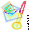 Vector Clip Art image  of a mail and pen
