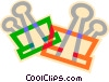 bull dog clips Vector Clip Art picture