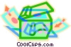 Vector Clipart image  of a photocopier