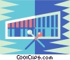 Vector Clip Art picture  of a xylophone