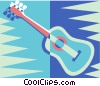 Vector Clip Art graphic  of an acoustic guitars