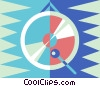 Vector Clip Art image  of a gongs