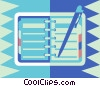 Vector Clip Art graphic  of a day timer