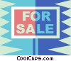 for sale sign Vector Clipart picture