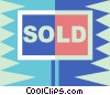 Sold sign Vector Clipart picture