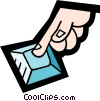 finger pressing a button Vector Clipart picture