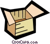 Vector Clipart image  of a shipping box