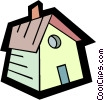 Vector Clipart graphic  of a birdhouse