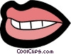 Vector Clip Art image  of a lips and teeth