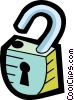 Vector Clip Art picture  of a padlock
