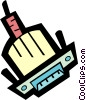 Vector Clip Art graphic  of a computer plugs