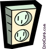 Vector Clipart graphic  of a wall plugs