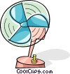electric fans Vector Clip Art picture