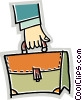 Vector Clipart graphic  of a Briefcases