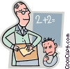 Student and teacher Vector Clipart image