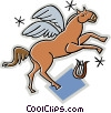 Vector Clip Art picture  of a Pegasus the horse with wings