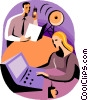 Vector Clip Art image  of a telecommunications