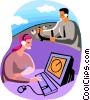 pilot and air traffic controller Vector Clipart picture