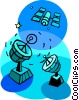 Vector Clip Art image  of a satellite communications