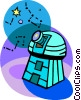 observatory Vector Clip Art graphic