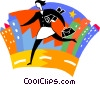 Vector Clip Art picture  of a Woman running late for work