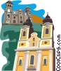 Vector Clip Art picture  of a European buildings