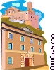 Vector Clipart image  of a European buildings