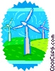 windmills Vector Clipart picture