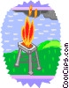 Vector Clipart graphic  of a barbecues