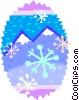 mountains with snow Vector Clip Art picture