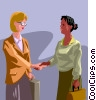 Woman shaking hands Vector Clipart picture