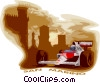 Vector Clipart graphic  of a Race car at the San Marino