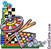 Vector Clipart picture  of a various games of chance