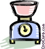 kitchen scales Vector Clip Art graphic