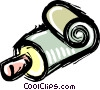 Vector Clip Art image  of a tube of toothpaste