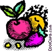 Vector Clipart picture  of an assorted fruits