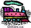 Vector Clipart picture  of a trains