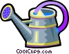 Vector Clipart graphic  of a watering can