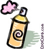 Vector Clipart graphic  of an aerosol cans