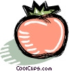 red tomato Vector Clipart illustration