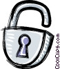 padlock Vector Clip Art graphic