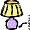 Vector Clipart illustration  of a table lamps