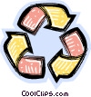 Vector Clip Art image  of a recycle symbols